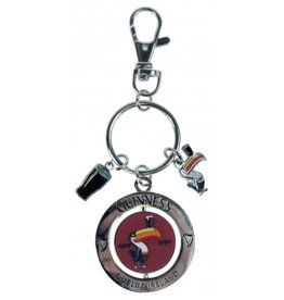 KEYCHAINS/CAR/ETC GUINNESS SPINNER TOUCAN KEYRING