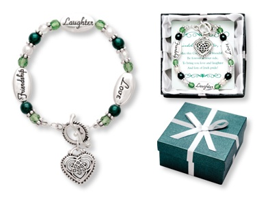 BRACELETS & BANGLES DANGLE HEART CHARM BLESSING BRACELET