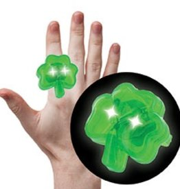 NOVELTY NOVELTY SHAMROCK FLASHING RING