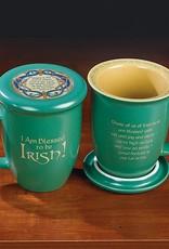 "KITCHEN & ACCESSORIES ""I AM BLESSED TO BE IRISH"" COASTER MUG"
