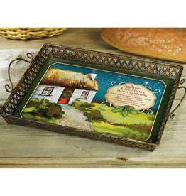 "HOLIDAY ""IRISH CHRISTMAS HOME BLESSINGS"" TRAY"