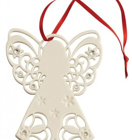 ORNAMENTS BELLEEK LIVING ANGEL with GEMS ORNAMENT