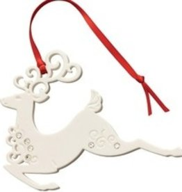 ORNAMENTS BELLEEK LIVING REINDEER ORNAMENT with GEMS
