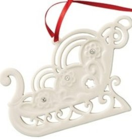 ORNAMENTS BELLEEK LIVING SLEIGH ORNAMENT with GEMS