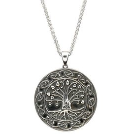 "PENDANTS & NECKLACES GENERATIONS ""TRINITY TREE OF LIFE"" STERLING SILVER PENDANT - LARGE"