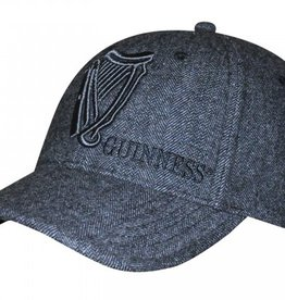 CAPS & HATS GUINNESS TWEED VINTAGE HARP BASEBALL CAP
