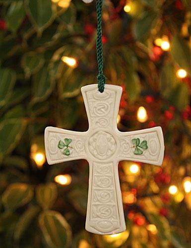 ORNAMENTS ST. PATRICKS CROSS BELLEEK ORNAMENT