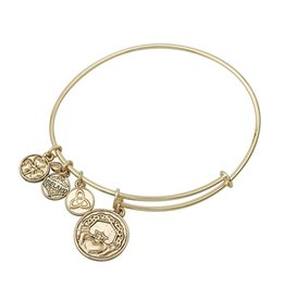 BRACELETS & BANGLES SOLVAR GOLD TONE CLADDAGH CHARM BANGLE