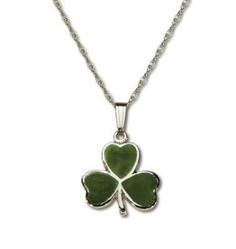 PENDANTS & NECKLACES STERLING SILVER SHAMROCK CONNEMARA PENDANT