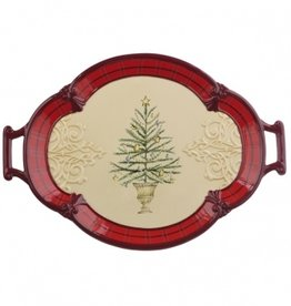 HOLIDAY HOLIDAY TREE SERVING PLATTER