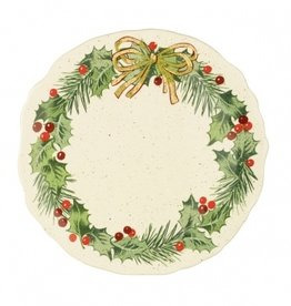 HOLIDAY WREATH HOLLY LEAF PLATTER