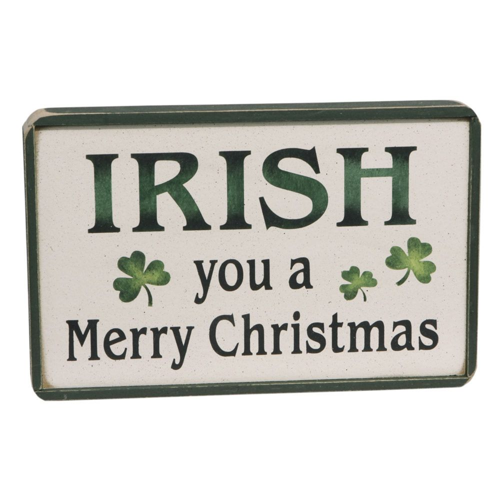 holiday decor irish you a merry christmas wooden sign - Merry Christmas Wooden Sign
