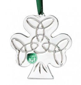 "ORNAMENTS 3.5"" CRYSTAL SHAMROCK ORNAMENT"