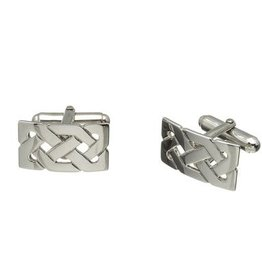 MENS JEWELRY STERLING SILVER CELTIC CUFFLINKS