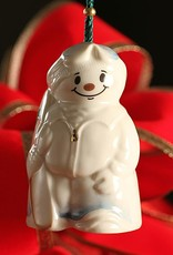 ORNAMENTS SNOWBOARDING SNOWMAN BELL BELLEEK ORNAMENT