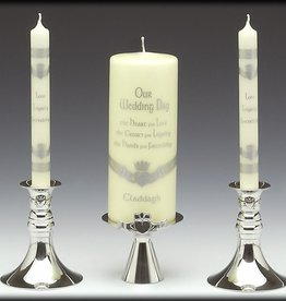 WEDDING ACCESSORIES MULLINGAR PEWTER UNITY CANDLE HOLDER (3pc)