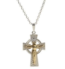 CROSSES STERLING SILVER & GOLD FILLED CRUCIFIX