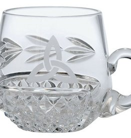 BABY RELIGIOUS GALWAY CRYSTAL CHRISTENING MUG - TRINITY