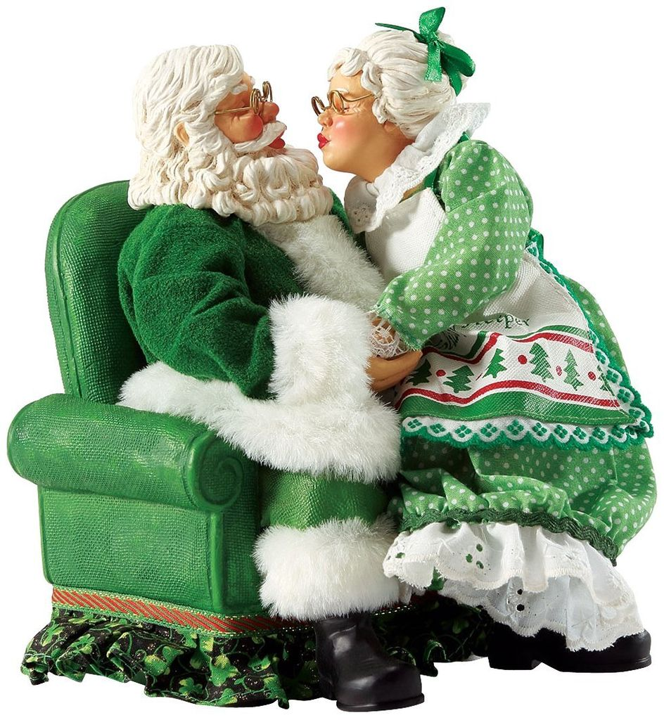Mr and mrs claus ornaments - Santas Irish All I Want Mr Mrs Claus