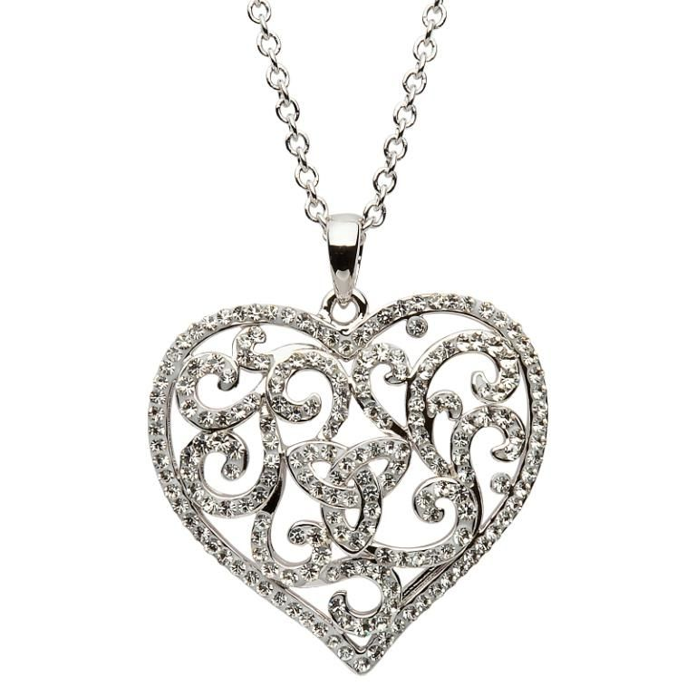 Pendants necklaces shanore sterling heart pendant with white pendants necklaces shanore sterling heart pendant with white swarovski crystals aloadofball Gallery