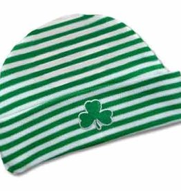 BABY ACCESSORIES SHAMROCK STRIPE NEWBORN CAP