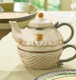 KITCHEN & ACCESSORIES CELTIC CLADDAGH TEAPOT FOR ONE