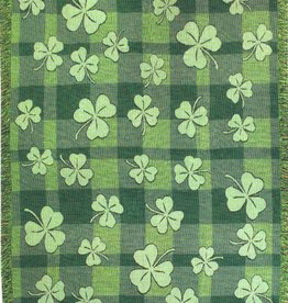 TAPESTRIES, THROWS, ETC. SHAMROCK THROW