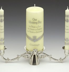 WEDDING ACCESSORIES MULLINGAR PEWTER CLADDAGH WEDDING UNITY CANDLE HOLDER