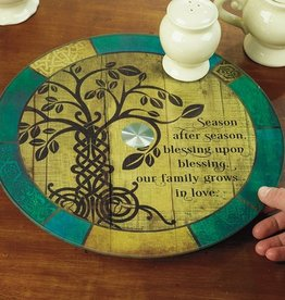 "KITCHEN & ACCESSORIES ""IRISH TREE OF LIFE"" LAZY SUSAN"