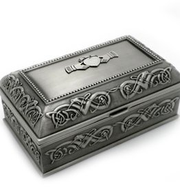 DECOR PEWTER JEWELRY BOX MEDIUM