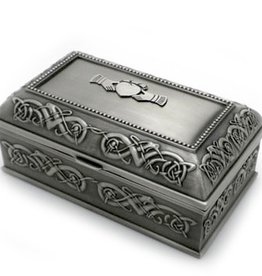 DECOR PEWTER JEWELRY BOX LARGE