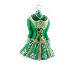 ORNAMENTS IRISH DANCER DRESS GLASS ORNAMENT