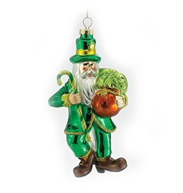 ORNAMENTS SANTA with CANE ORNAMENT
