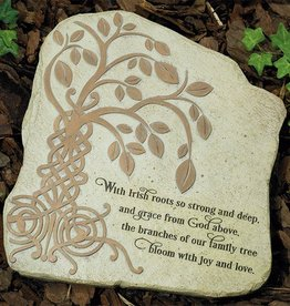 "GARDEN ""IRISH TREE OF LIFE"" GARDEN STONE"