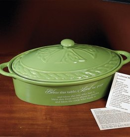 "KITCHEN & ACCESSORIES ""BLESS THIS TABLE"" LIDDED BAKING DISH"