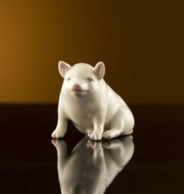 LIMITED EDITION PIG FIGURINE - (1907-1917) BELLEEK ARCHIVE COLLECTION