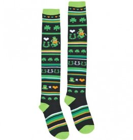 ACCESSORIES NOVELTY ST. PATS LUCKY STRIPE KNEE SOCKS
