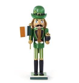 HOLIDAY DECOR IRISH FLAG & POT OF GOLD NUTCRACKER