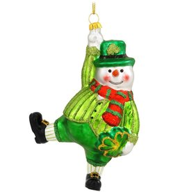 ORNAMENTS SNOWMAN with RED SCARF IRISH ORNAMENT