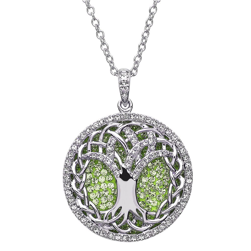 Pendants necklaces sterling silver peridot tree of life pendant pendants necklaces sterling silver peridot tree of life pendant with swarovski crystals mozeypictures Images