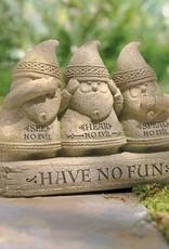 """GARDEN """"SEE NO EVIL"""" GARDEN GNOMES"""