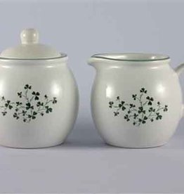 KITCHEN & ACCESSORIES SHAMROCK SUGAR & CREAMER SET
