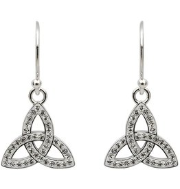 EARRINGS STERLING SILVER TRINITY EARRINGS adorned with SWAROVSKI CRYSTALS