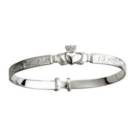 BRACELETS & BANGLES SOLVAR STERLING CHILD'S CLADDAGH BANGLE