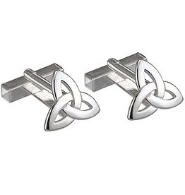 MENS JEWELRY STERLING SILVER TRINITY CUFF LINKS