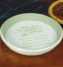 "HOLIDAY ""GAELIC GREETINGS"" CHRISTMAS PIE PLATE"