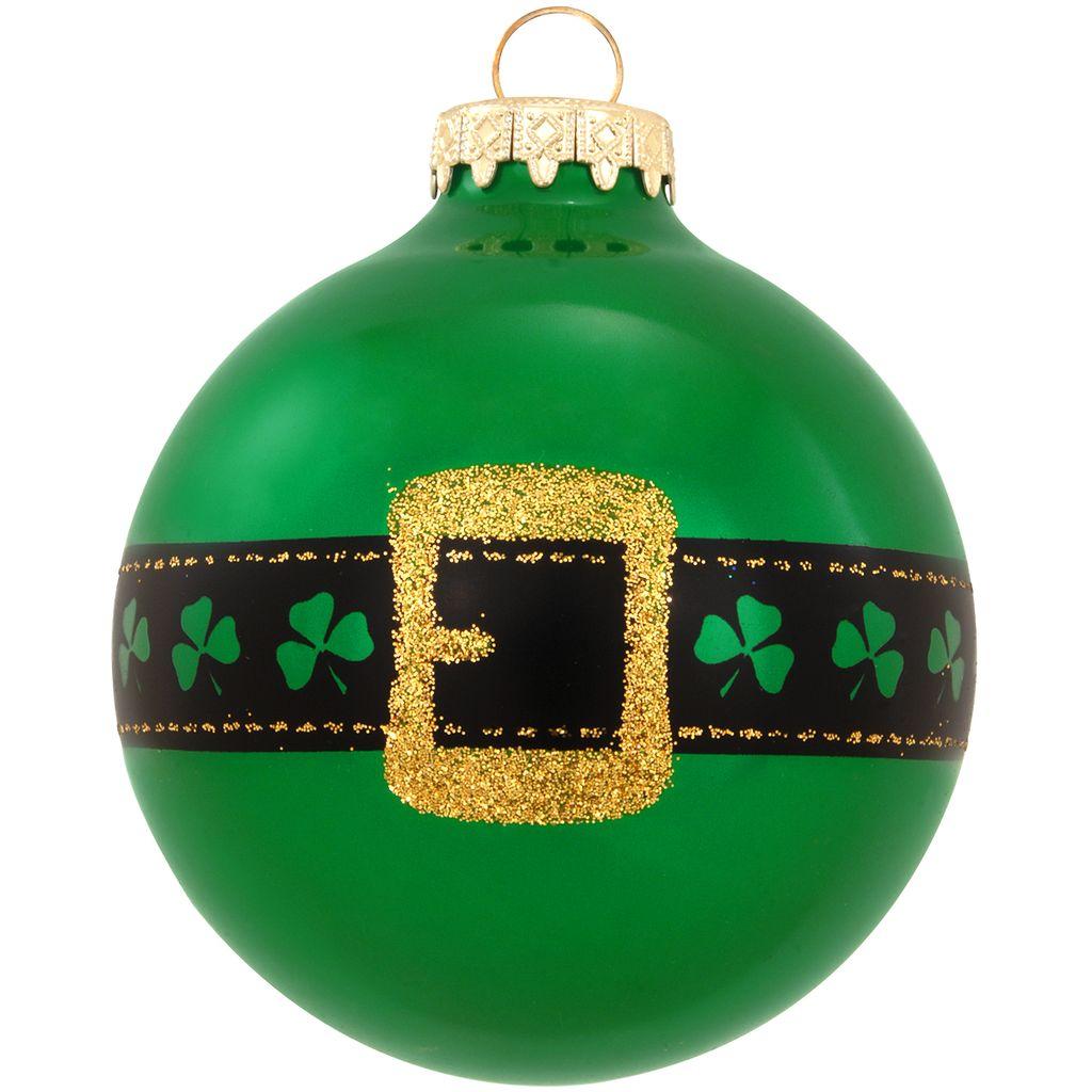 Ornaments irish belt glass ornament crossroads