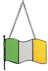 STAINED GLASS PRIDE OF IRELAND STAINED GLASS FLAG