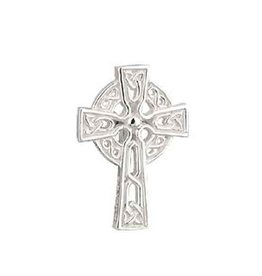 MENS JEWELRY SILVER PLATE TIE PIN CROSS