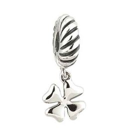 BEADS DANGLE FOUR LEAF CLOVER STERLING SILVER BEAD